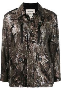 Zadig&Voltaire Sequinned Camoflage Jacket - Neutro