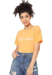 Camiseta Oh Boy Recorte Amarela