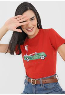 Camiseta Colcci Estampada Vermelha - Kanui
