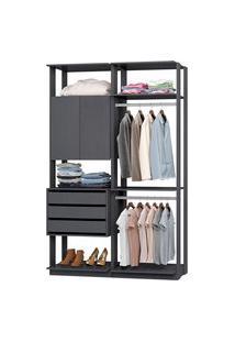 Closet Modulado Industrial Be Mobiliário Clothes 1 Armário 3 Gavetas