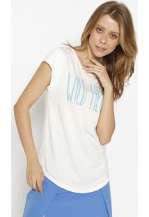 "Camiseta ""Wild Heart"" - Off White E Azul- M. Officerm. Officer"