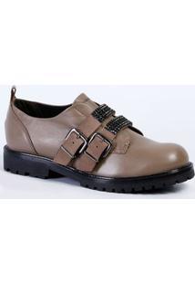 b2fee881c5 Sapato Feminino Tratorado Strass Cravo E Canela 155902