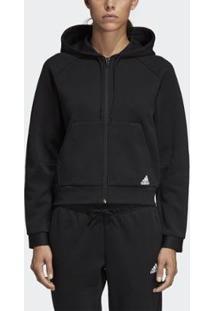 Jaqueta Adidas Must Haves C/ Capuz Feminina - Feminino-Preto
