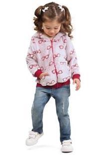 Jaqueta Infantil Com Capuz Em Fleece Zig Zig Zaa Feminina - Feminino