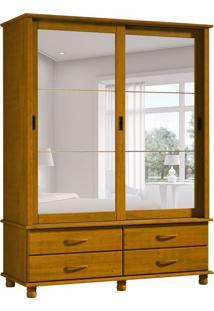 Guarda-Roupa Casal Com Espelho Esmeralda 2Pt Teca