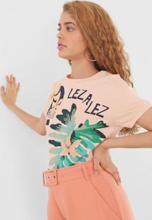 Camiseta Lez A Lez Estampada Laranja - Kanui