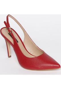 Sapato Chanel Em Couro - Vermelho - Salto: 11Cmjorge Bischoff