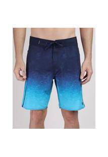 Bermuda Surf Masculina Estampada Tie Dye Azul Marinho