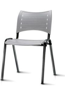 Cadeira Iso Assento Cinza Base Preta - 54034 - Sun House