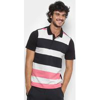 Camisa Polo Hurley Atorm Masculina - Masculino-Preto+Rosa 91bbe2e6a8b54