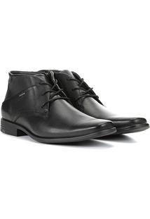 Sapato Social Couro Ferracini Cano Médio Perfuros Masculino - Masculino