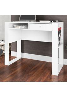 Mesa Escrivaninha Paris 1 Gaveta Branco - Art In Móveis