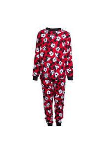 Pijama Hering Kids Infantil Manga Longa Mickey And Friends Vermelho