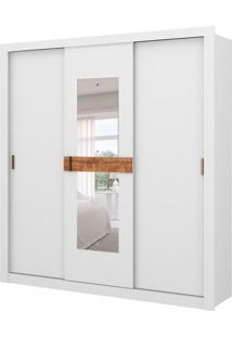 Guarda-Roupa Casal Flex Color Com Espelho Vivacce 3 Pt 2 Gv Branco E Native
