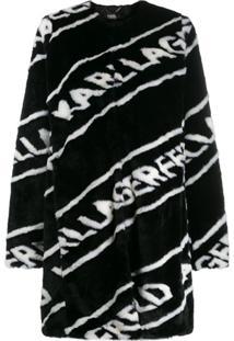 Karl Lagerfeld Casaco Com Logo - Preto