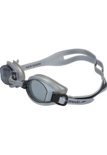 Óculos De Natação Speedo New Shark - Adulto - Cinza Esc/Cinza Cla