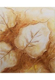 Quadro Artesanal Abstrato 40X50 Marrom Uniart