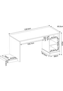 Mesa Para Computador Desk Gamer Drx 3000 Siena Móveis Preto/Azul