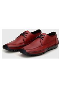 Sapato Em Couro Hayabusa Duna 80 Vermelho