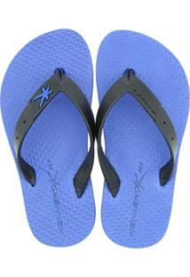 Chinelo Infantil Kenner Joy Summer Black Masculino - Masculino-Azul