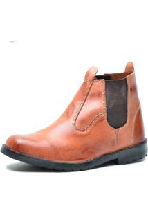 Bota Country Sw Shoes Botinha Trabalho Pinhão