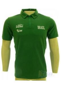 Camisa Olympikus Cbv Polo Masculina Viagem Sn Vrd - Olympikus 278a374578a05