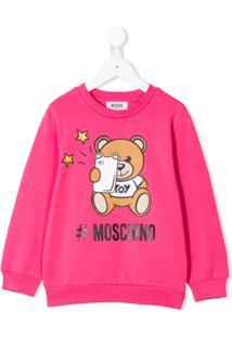 Moschino Kids Camiseta Com Estampa De Urso - Rosa