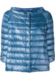 Herno Wide Boat Neck Jacket - Azul