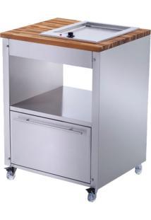 Balcão De Cozinha Skow Com Chapa Elétrica 1 Gv Prata