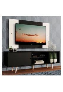 Rack Madesa Dubai Com Pés E Painel Para Tv Até 58 Polegadas Preto/Branco 8Nc7 Preto