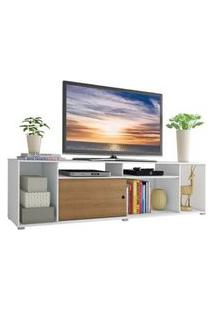 Rack Para Tv Até 65 Polegadas Madesa Cancun Branco/Rustic Branco