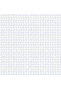 Papel De Parede Lymdecor Coleção Infantário Pied-Poule 1733 Bobinex Azul