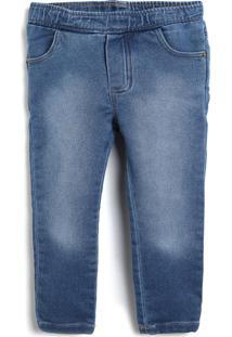 Calça Jeans Colorittá Infantil Lisa Azul