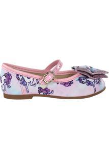 Sapato Infantil Molekinha Laço Multicolor - 19