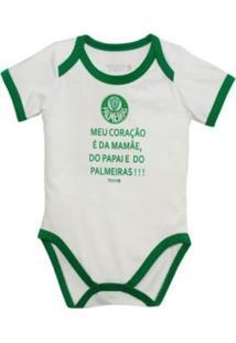 """Body Reve D'Or Sport """"""""Meu Coração É..."""""""" Palmeiras Branca E Verde"""