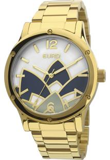 Relógio Euro Analógico Feminino Aço Madrepérola Dourado - Eu2035Ycx/4D Largura Da Caixa (Cm) 4,3