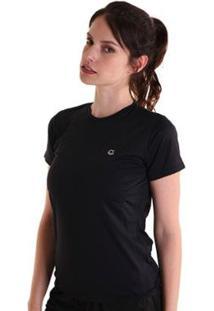 Camiseta Líquido Basic Fit Feminina - Feminino-Preto