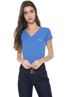 Camiseta Planet Girls Logo Bordado Azul