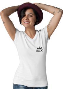 Camiseta Ezok Gola V King Branco