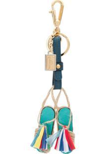 Dolce & Gabbana Chaveiro De Chinelo De Palha - Azul