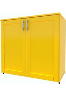 Armário De Escritório Oma 2 Pt Amarelo