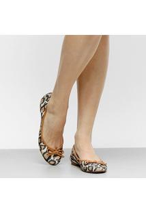Sapatilha Shoestock Animal Print Feminina - Feminino