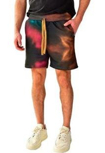 Bermuda Moletom Brohood Tie Dye Masculina - Masculino
