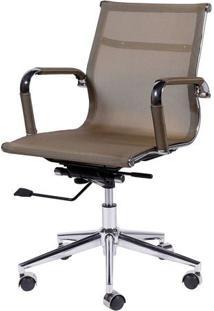 Cadeira Office Eames Tela- Cobre & Prateada- 97X61X4Or Design