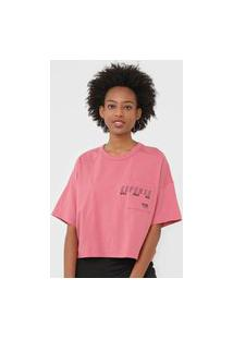 Camiseta Colcci Repense Rosa