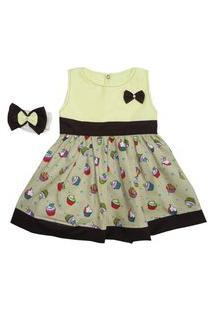 Vestido Antonela Cupcake Grande I9 Baby Bege