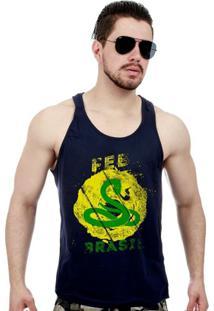 0becef1b9fa47 Camiseta Regata Militar Feb Força Expedicionária Brasileira - Masculino