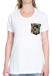 Cogumelos Tropicais - Camiseta Clássica Com Bolso