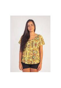 T-Shirt Izib Básica Amarela