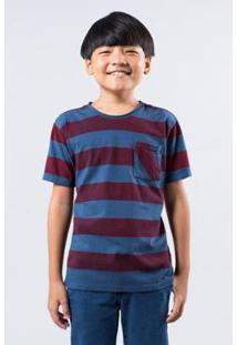 Camiseta Mini Sm Reserva Mini Masculina - Masculino-Azul